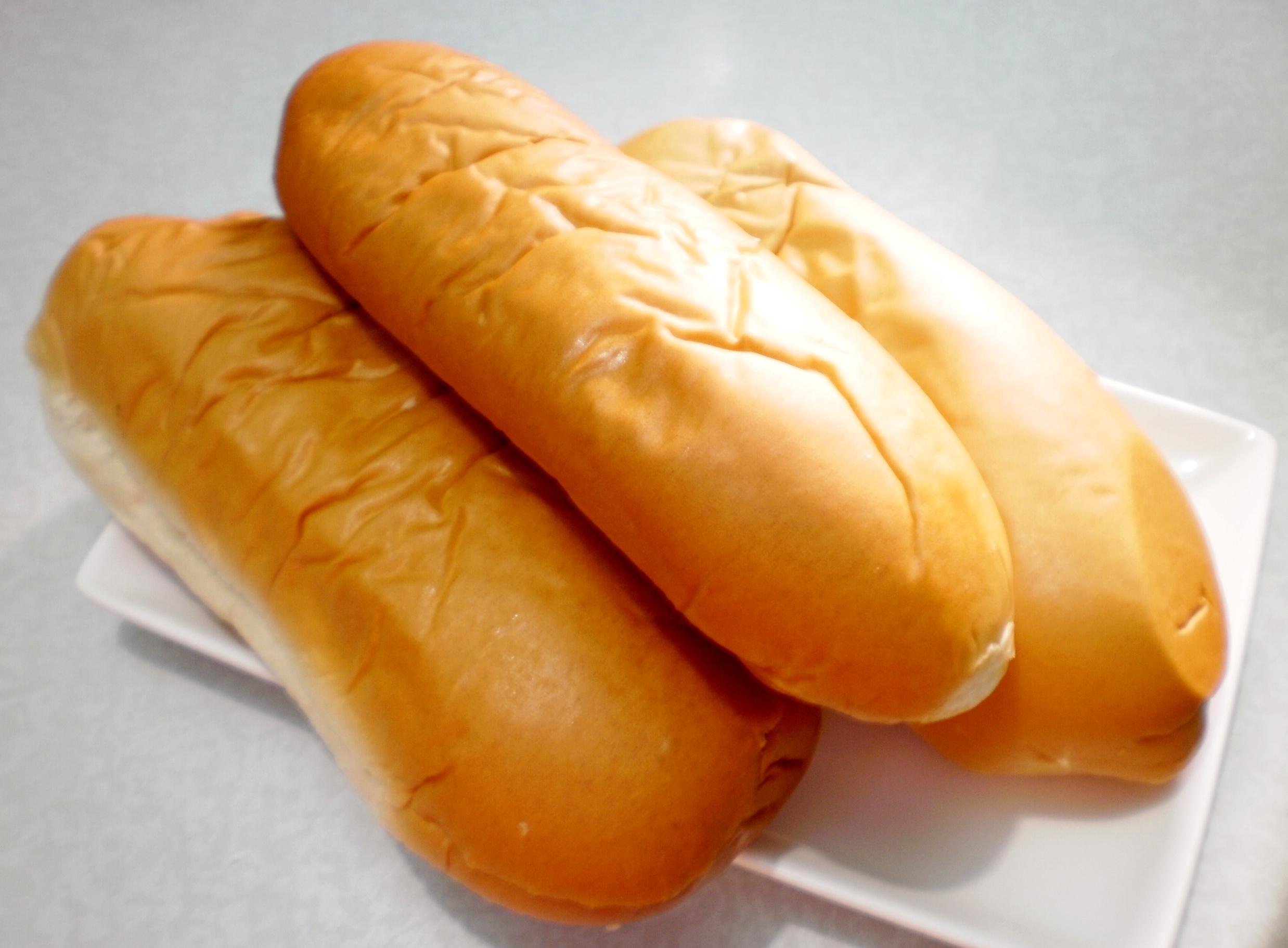 Hot Dog Buns Top Slice