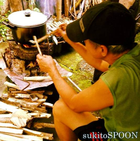 cooking with the use of ulingan
