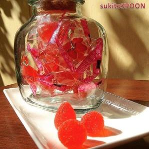 strawberry candies
