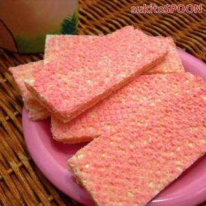 strawberry-filled wafer